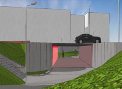 Uppdrag att klotterskydda tunnel under Ekerövägen.